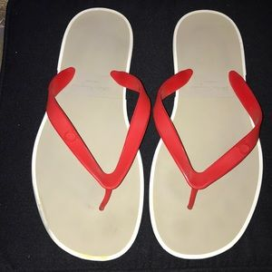 d6b36513fbf0 Authentic Salvatore Ferragamo rubber thong sandals